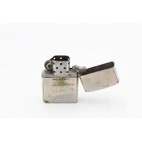 19 - 3 x Assorted ZIPPO Lighters Inc Brass, Advertising, Plain, Slimline Etc