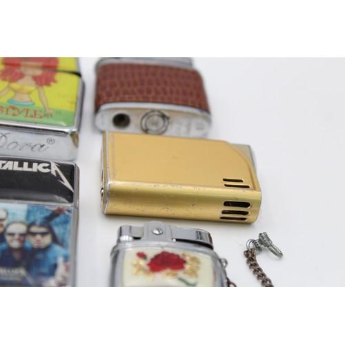 17 - 14 x Assorted Vintage BRANDED Cigarette LIGHTERS Inc Boxed, Kingsway, Sim Etc