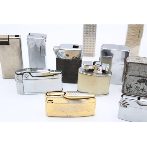 26 - 14 x Assorted Vintage BRANDED Cigarette LIGHTERS Inc Kingsway, Sim, Hadson Etc