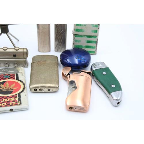 30 - 20 x Assorted Cigarette LIGHTERS Inc Vintage, Zippo Style, Novelty Etc