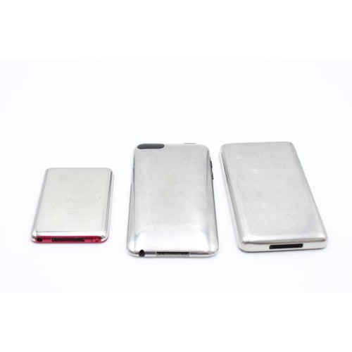 31 - 3 x Assorted APPLE Ipods Inc Nano, Touch, Classic Etc