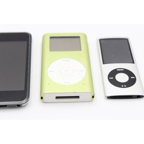 33 - 3 x Assorted APPLE Ipods Inc Nano, Touch Etc