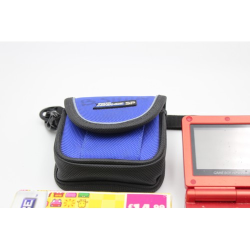 37 - 2 x Retro NINTENDO Game Boy Advance SP Hand Held Game Consoles w/ 1 Game