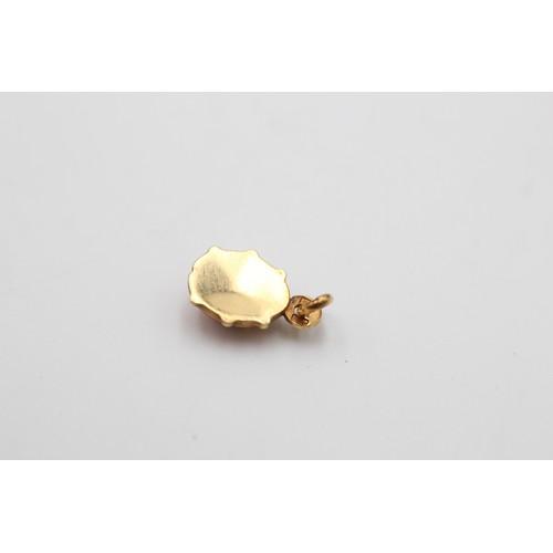 48 - 9ct gold vintage enamelled ladybird pendant (0.8 g)