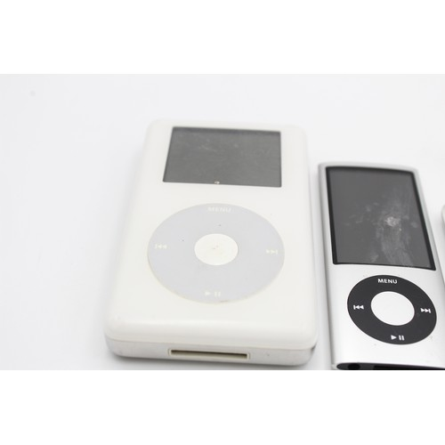 51 - 4 x Assorted APPLE Ipods Inc Nano, Shuffle, Classic Etc