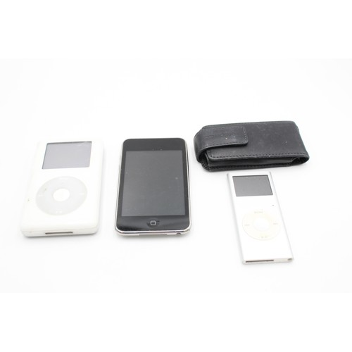 61 - 3 x Assorted APPLE Ipods Inc Nano, Touch, Classic Etc