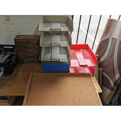 1 - Quantity Of Desk Organizers Notice Board 5 Drawers Table Top Desk