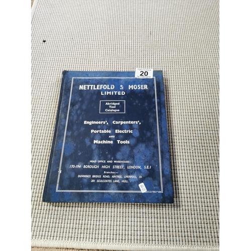 20 - Nettlefold & Moser Abridged Tool Catalogue 1957