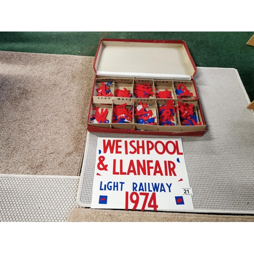 21 - Vintage Boxed Interchangeable Sign Kit By Pip