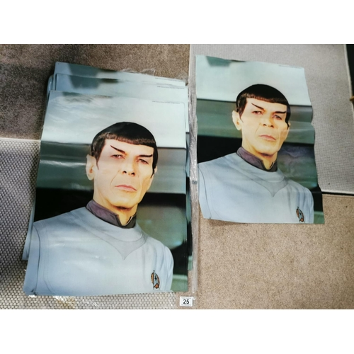 25 - Job Lot Of Posters From 1980 Paramount Pictures Of Spok From Star Trek