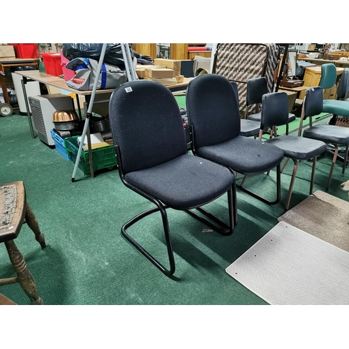 33 - Pair Of Upholstered Sprung Seats