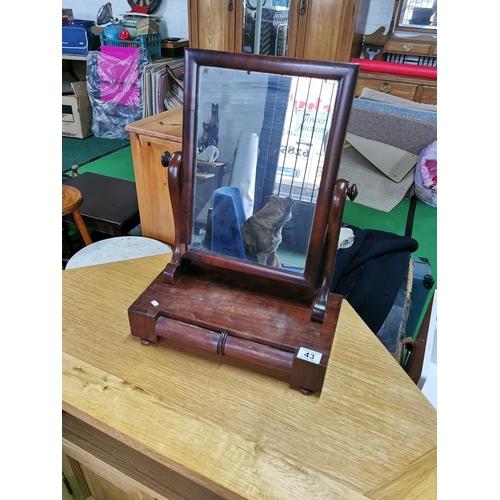 43 - Victorian Mahogany Dressing Table Mirror