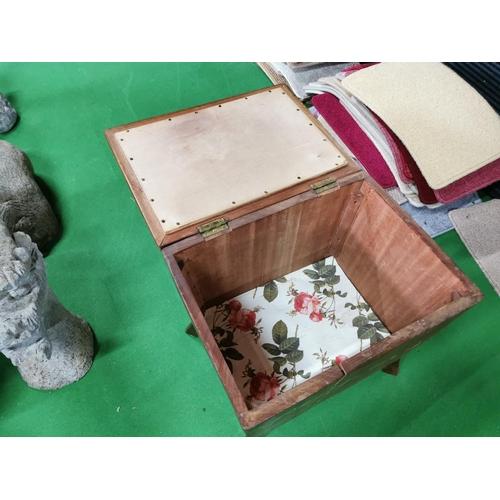 45 - Vintage 40's Solid Mahogany Linen Box