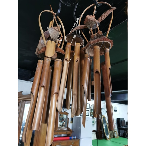 50 - 9 Sets of Wooden Wind Chimes Some With Dragon & Bird Tops