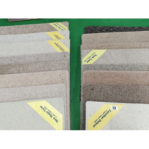 59 - 20 Various As New Carpet Tiles All Approx 69cm Squared