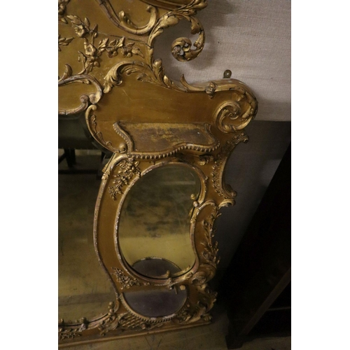 17 - <B>A Victorian giltwood and gesso overmantel, width 158cm height 158cm</b></i>...