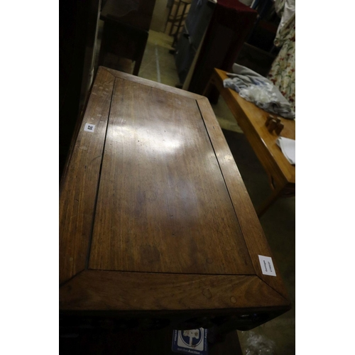 20 - <B>A 19th century Chinese hongmu opium table, width 79cm depth 44cm height 28cm</b></i>...