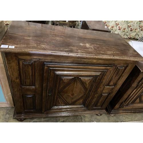 21 - <B>A mid 18th century French provincial walnut cupboard, enclosed by a single door, width 117cm, dep...