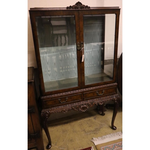 4 - <B>A George III style mahogany china display cabinet, width 98cm depth 40cm height 158cm</b></i>...