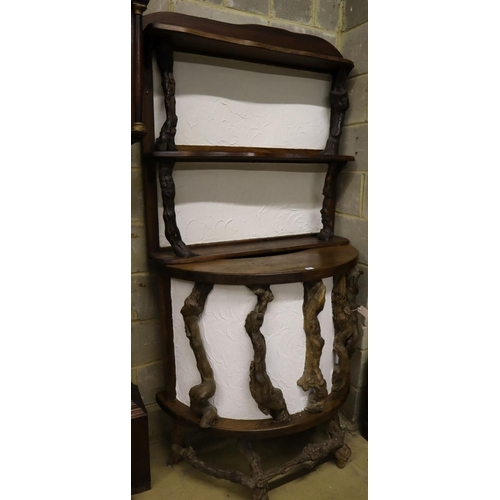 41 - <B>A vine root bar and wall rack, larger width 100cm height 100cm</b></i>...