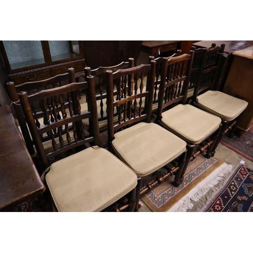 58 - <B>A set of eight 19th century ash rush-seat chairs</b></i>...