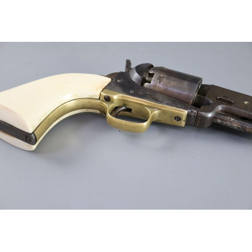 18 - <B>A Colt London 1851 Percussion Cap Navy Revolver, No. 1811 with ivory grip,</b></i> <I>length 13in...