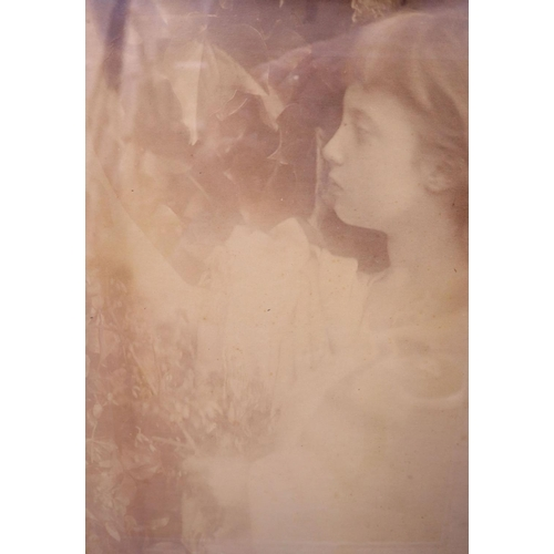 23 - <B>Julia Margaret Cameron (1815-1879) - A photographic study of Florence Fisher, aged eight, great n...