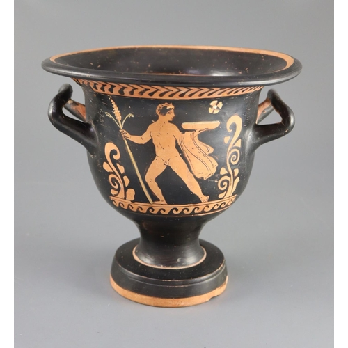 24 - <B>An Apulian red figure bell krater, Southern Italy c. 4th century BC,</b></i> painted with a woman...