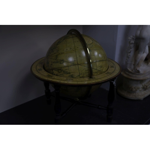 26 - <B>A Cary's New Terrestrial globe,</b></i> made and sold by J & W Cary, January 1812, on ebonised st...