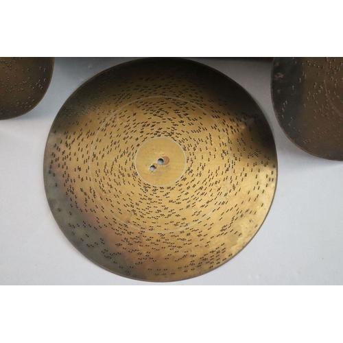 30 - <B>A Victorian German walnut symphonion,</b></i> with stencil decorated lid and gilt bronze handles,...