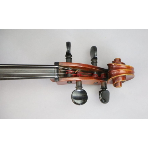31 - <B>A late 19th/early 20th century German cello, labelled 'Schutz HD junior Marke',</b></i> with litt...