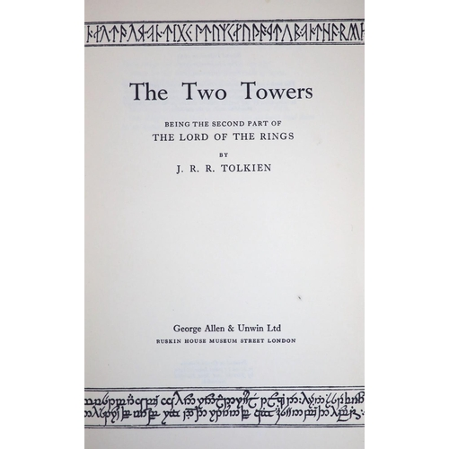 17 - °  Tolkien, J.R.R - The Lord of the Rings, 3 vols, The Fellowship of the Ring, 5th impression, 1956;...