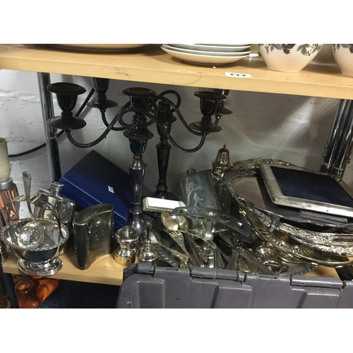 20 - A quantity of silver plate, including coffeewares, candelabra, baskets etc -...