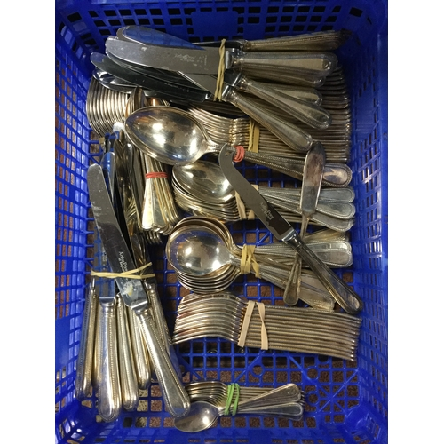 9 - An EPNS canteen of cutlery (loose) -...