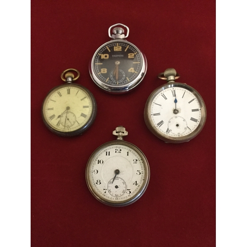 16 - A group of four open face pocket watches -...