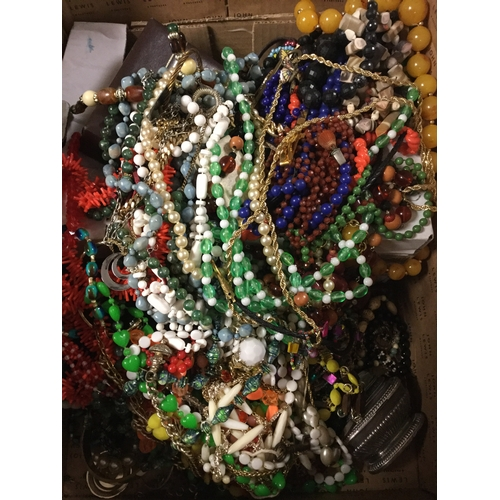 17 - A large quantity of mostly modern costume jewellery -...