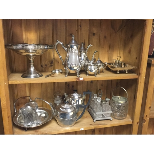 20 - A quantity of silver plated items,  to include coffee and teawares, large centre bowl etc -...
