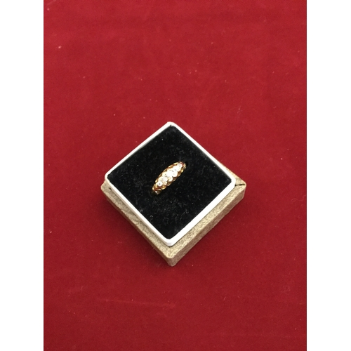 41 - An antique diamond five stone ring,  set with graduated old cut stones, to 18ct gold mount -...