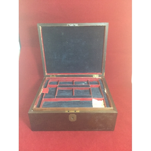 18 - A 19th century jewellery box,  fitted with lift out trays (some losses) -...