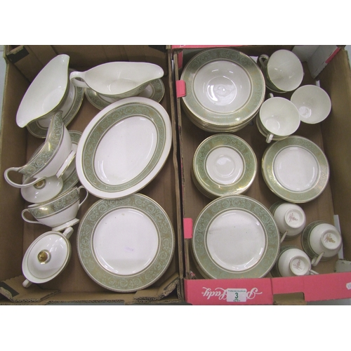 3 - A large collection of English Renaissance dinner ware: including gravy boats, plates, sugar bowls et...