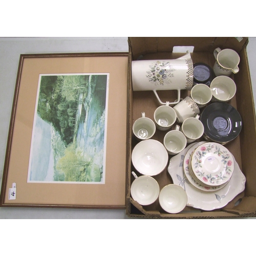4 - A mixed collection of items including: J Meakins coffee set together with Duchess China floral decor...