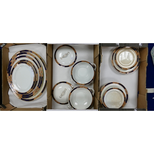 20 - Burleigh Dinnerware: Satsuma patterned dinnerware to include, serving platers, tureens, plates, etc....