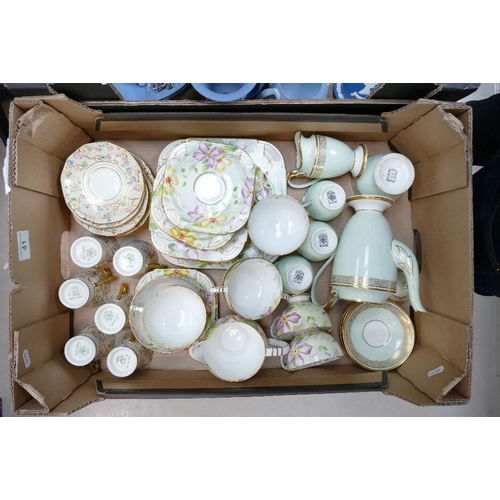 41 - A mixed collection of floral decorated tea ware including: Paragon & Tuscan part tea sets...