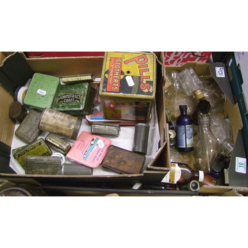 10 - A collection of advertising tins: to include Ovaltine, OXO, cigarette boxes together with a large co...