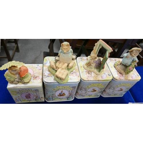 53 - a collection of boxed Border Fine Arts Beatrix Potter figures: Timmy Willie and his Strawberry, Aunt...