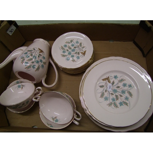 30 - tuscan blue star dinner ware: to include 6 dinner plates, 10 salad plates, 11 saucers, 4 soup bowls ...