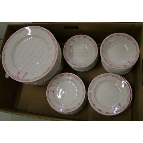 34 - Churchill Vanity Fayre dinnerware items: 24 each of dinner plates, side plates and bowls.