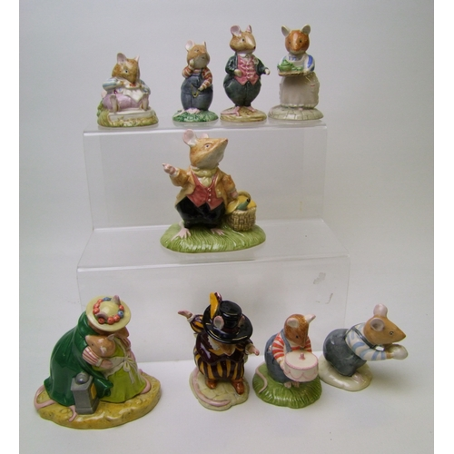 45 - Royal Doulton Brambley Hedge Figures to include: Mrs Apple DBH47, Mr Toadflax DBH10, Wilred Toadflax...