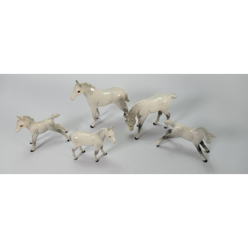 23 - Beswick grey foals: to include 815, 946 grazing, 997, 1816 and1817 (5)...