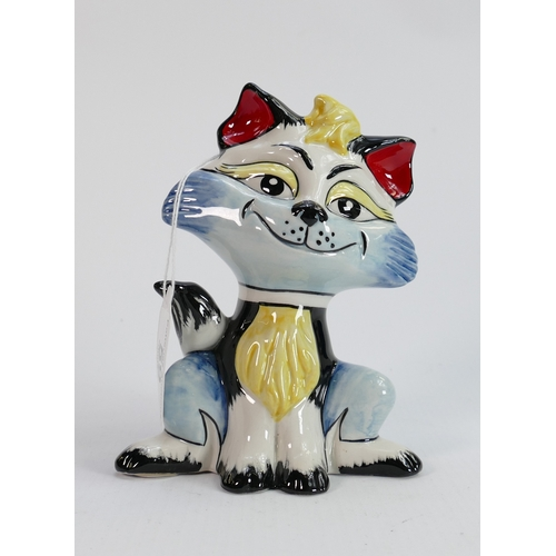 59 - Lorna Bailey cat unique edition of one only: Standing 14.5 cm tall. Limited edition 1/1.